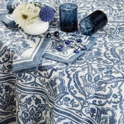 st.tropez tablecloth-sizes-blue-tablecloth