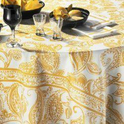 diner et ville jaune beauville tablecloth